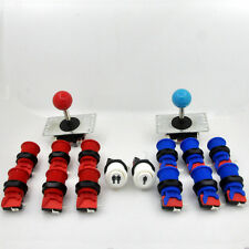 Arcade DIY Kit:2x Joystick +12 Happ Push Buttons +2 Start Button For MAME
