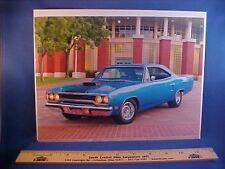 new 1970 Plymouth Road Runner full-color calendar art w/backer board to frame