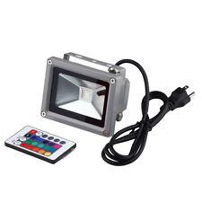Remote Control 16 RGB 10W 85~265V LED Flood Light Lamp Floodlight Waterproof EA