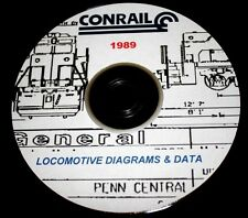 ConRail 1989 Locomotive Diagrams & Data PDF Pages on DVD