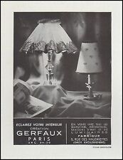 Publicité Luminaires GERFAUX  lampes  design  photo vintage ad  1948