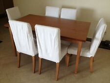 Wooden Dining Table Set (Dining Table + 6 Chairs)