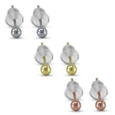 White Platinum,14K Gold And Rose Gold Plated In Alloy Women's Ball Stud Earring