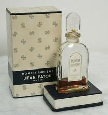 Vintage JEAN PATOU Moment Supreme Paris Perfume. No 2498 Box & Bottle. FRANCE