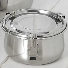 DM KITCHEN AIRTIGHT STAINLESS STEEL FOOD CIRCULAR CONTAINER LEAKPROOF Storage S