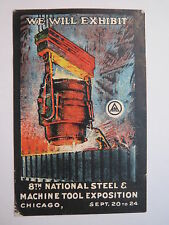 Chicago - 8th National Steel & Machine Tool Exposition / Reklamemarke