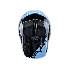 "Troy Lee Designs SE3 ""Seven"" Surge Blue Black MX Helmet XXL 2X TLD Motocross JS7"