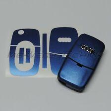 1A_Schlüssel-Dekor Aufkleber 1. Gen. Audi A2 A3 A4 A6 A8 TT blau metallic matt