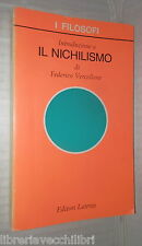 INTRODUZIONE A IL NICHILISMO Federico Vercellone Laterza Filosofia Pensiero di