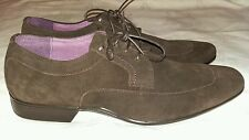AZOR FREZIER MEN'S BROWN SUEDE FORMAL LACE UP SHOE Size uk 11 eu 45