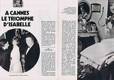 COUPURE DE PRESSE CLIPPING 1977 ISABELLE HUPPERT (4 pages)