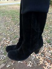 APEPAZZA Suede High Heel BOOTS Sweater Top Stretch Platforms Womens Shoes Sz 9.5