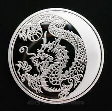 2014 Russia Lunar Zodiac Dragon Silver Plated Commemorative Coin Token