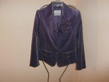 Yves St. Laurent Rive Gauche Velvet Jacket w/Brushed Silver Marble Buttons   F46