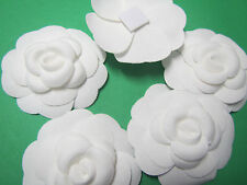 10    x new    Chanel    WHITE   Camellia FLOWER  for making a pin or brooch