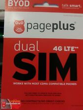 Page Plus Cellular (4G LTE) Dual SIM Card - Standard/Micro Prepaid No Contract!