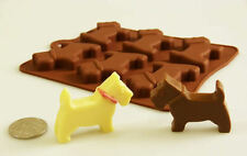 6 Little Scottie Scotty Dogs  Chocolate Silicone Mould candy cake animals topper