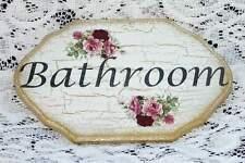 SHABBY BATHROOM  DOOR SIGN / PLAQUE