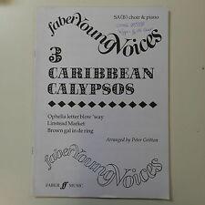vocal score PETER GRITTON 3 caribbean calypsos , SA[B]