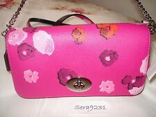 NWT COACH FLORAL PRINT MINI RUBY CROSSBODY/SHOULDER BAG PINK F35553