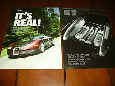 BUGATTI VEYRON EB 16.4   987 H.P. V-16 SUPER CAR ***ORIGINAL 2005 ARTICLE***