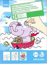 HEMA Magic Scratch And Color Coloring Book - 24 Pages of Art & Fun - Ages 2-5