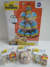 Minions Movie Exclusive NEW Cupcake Stand w/ 50 Baking Cups & 36 Fun Pixs Set