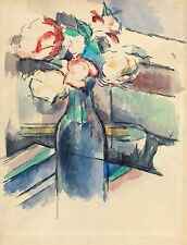 Paul Cezanne Reproductions: Roses in a Bottle - Art Print