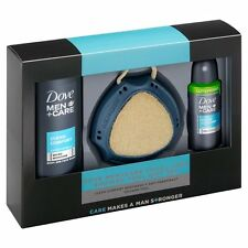 Dove Men+Care Shower Tool Mens Gift Set FREE UK DELIVERY