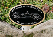 VINTAGE AUTOMOBILE CAR BADGE # 100 YEARS MORGAN MALVERN JUNGOLZ 2009