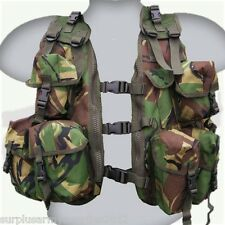 ARMY CADET LIGHTWEIGHT ASSAULT VEST CHEST WEBBING 8 POUCHES DPM PAINTBALLING