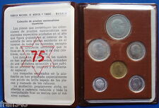 ESPAÑA SPAIN Cartera oficial 1975 FNMT Franco Proof