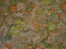 "Warners & Sons Interior fabric Chrysanthemum tree orange, green & gold 51"" wide"