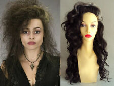 DELUXE HALLOWEEN BELLATRIX LESTRANGE HARRY POTTER WITCH LONG CURLY BROWN WIG