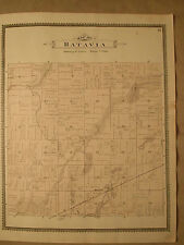 BATAVIA TOWNSHIP W CENTER OLDS MICHIGAN ANTIQUE MAP NR