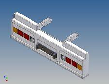 HSTCW4 - Heckstoßstange zu Tamiya 40ft. Containertrailer 1:14  für 2x4 Wedico LG