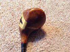 Vintage Spaulding Bros. 1 wood golf club, wood look metal shaft