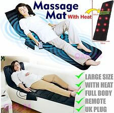 Massage Mat Mattress Flat Bed Back Full Body Massager For Chair Heat With Remote