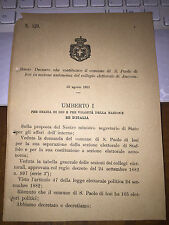 REGIO DECRETO COSTIT COMUNE S. PAOLO DI IESI ,SEP da STAFFOLO ,COLLEGIO ANCONA