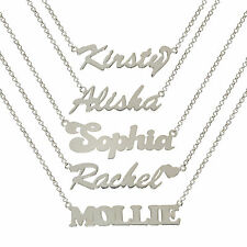 STERLING SILVER  SEX CITY PERSONALISED WE MAKE ANY NAME CHAIN NECKLACE GIFT BOX
