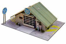 BK 4810 1:48 Scale Commercial Steel Garage Photo Real Scale Building  Slot Cars