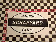 Ed Roth Style Scrapyard Genuine Parts Sticker  Ratlook Hotrod Custom Car Van Dub