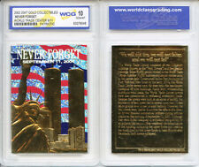 Lot of 10 WTC World Trade Center 9/11 PATRIOTIC 23KT GOLD CARD - GEM-MINT 10