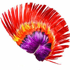Multi Colour Color Mohawk Wig Red Punk Rock Party Concert Festival Pub Hen Do