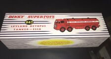 Atlas Edition Dinky Supertoys Leylan Octopus Esso Tanker, Cert & Pin Badge....