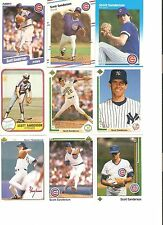 18 CARD SCOTT SANDERSON BASEBALL CARD LOT !                1-2