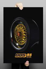 BBS RS 1982 poster by Katana (70x100cm) Wheels, Felgen, Rims, Artwork
