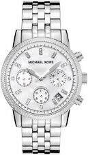 MICHAEL KORS Chronograph Mother of Pearl Dial Stainless Steel Watch MK5020
