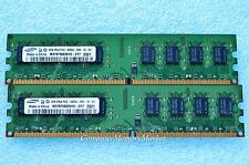 4GB Kit 2x 2GB PC2-6400 DDR2 800 Desktop Memory By SAMSUNG # M378T5663EH3-CF7