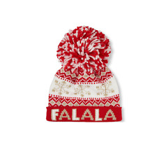 Toddler Girls 'FALALA'  Pom Pom Beanie Hat Set size S/M(4-7YR)